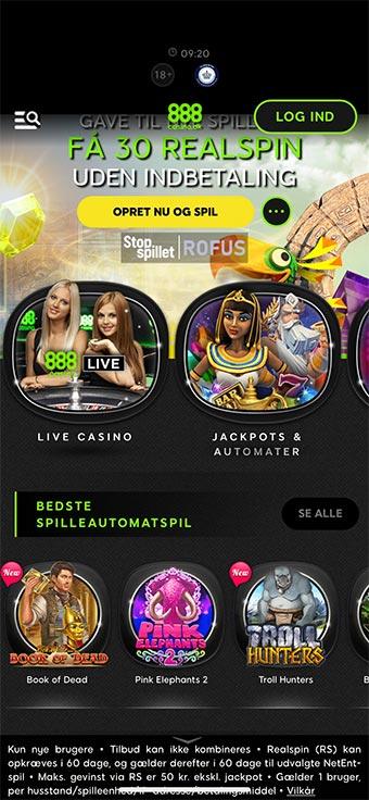Du kan naturligvis spille hos 888 Casino på mobilen
