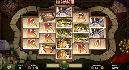 Spil spilleautomaten Jumanji hos 888 Casino