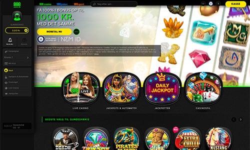 888 Casino byder på en lidt anderledes hjemmeside - på godt og skidt