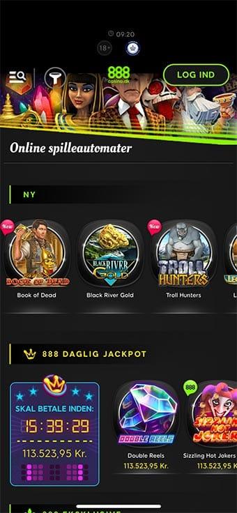 Du kan hente 888 Casino app'en i AppStore eller Google Play