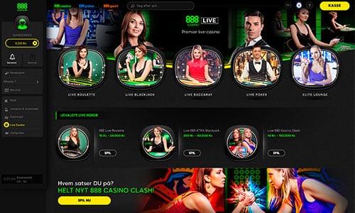 Du finder naturligvis et stort udvalg af live casino-spil på hjemmesiden