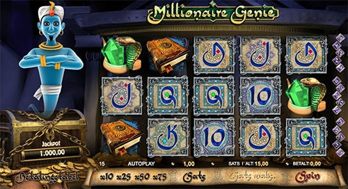 Millionaire Genie fra 888 Casino giver dig muligheden for at vinde en kæmpe gevinst