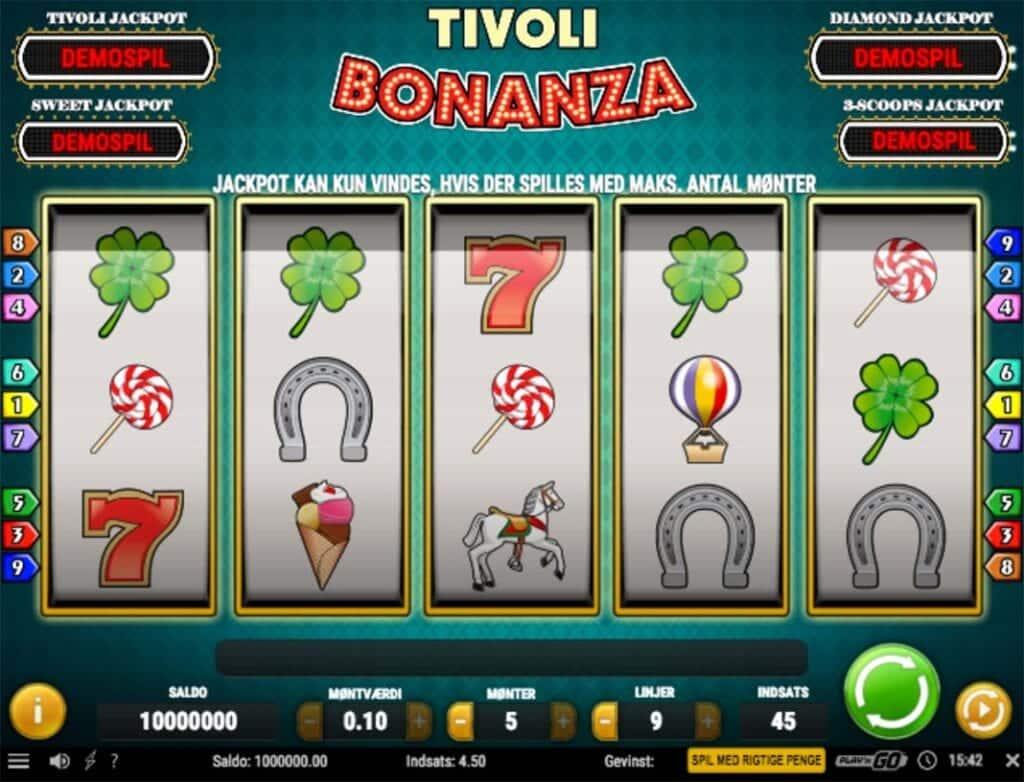Tivoli Bonanza fra Tivoli Casino er spiludbyderens bedste eksklusive casinospil
