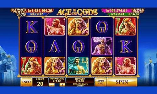 Age of the Gods er en populær spilleautomat hos Bet365 Casino