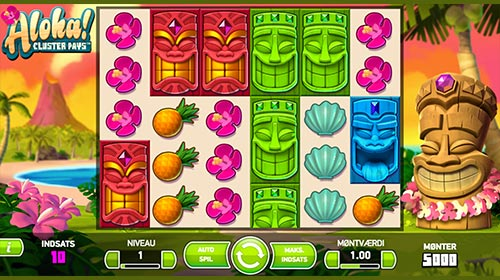 Den populære Aloha spilleautomat byder på masser af gevinstmuligheder