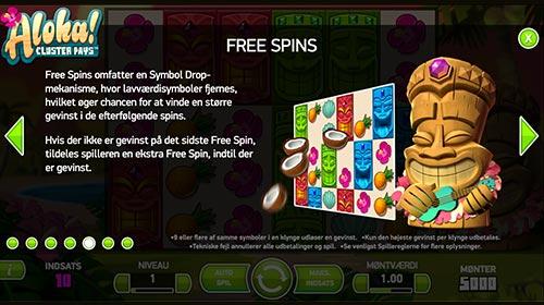 Du kan naturligvis også vinde ekstra freespins i Aloha-spilleautomaten