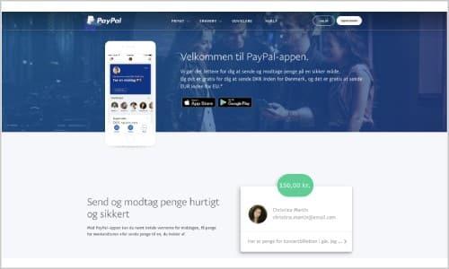 Du kan benytte PayPal i en lang række danske og internationale webshops - og naturligvis hos spiludbyderne