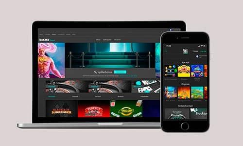 Spil hos Bet365 Casino på desktop eller mobil
