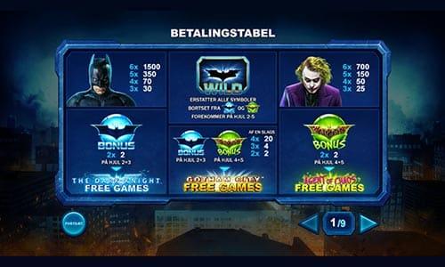 Du kan spille Batman-spilleautomaten The Dark Knight hos Bet365 Casino