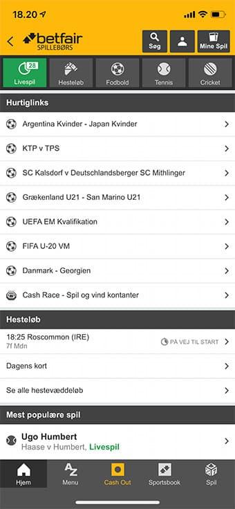 Betfair Spillebørs har en ganske fremragende mobil app til både iOS og Android