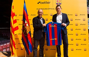 Betfair Spillebørs er bl.a. sponsor for mægtige F.C. Barcelona
