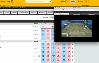 Betfair Spillebørs tilbyder en masse gratis livestreaming - bl.a. masser af tennis