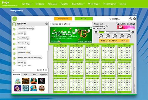 Danske Spil Bingo leverer en fremragende chatløsning