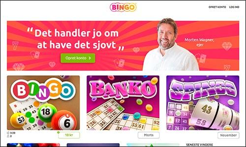 Bingo.dk har en nem og overskuelig hjemmeside