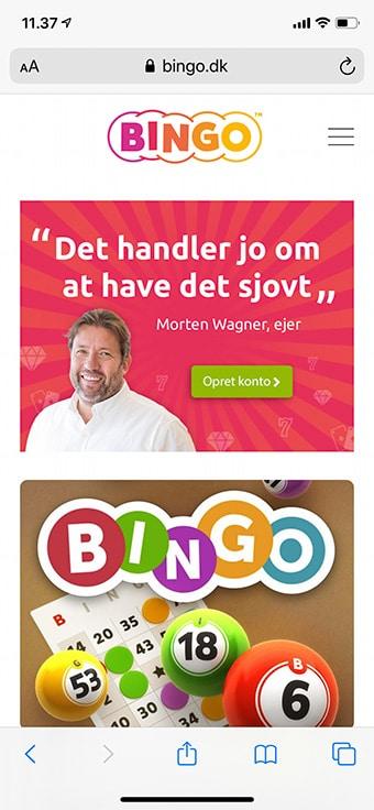 Spil hos Bingo.dk på mobilen