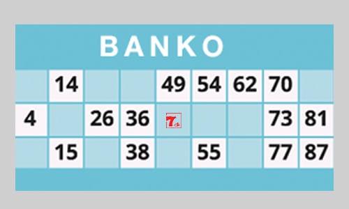 Bingo eller banko? Her ses en traditionel bankoplade