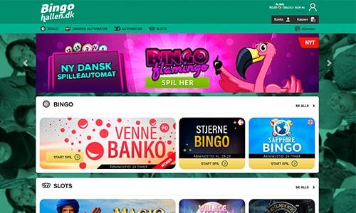 Bingohallen.dk byder på en simpel og brugervenlig hjemmeside