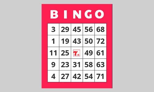 Bingo eller banko? Her ses en traditionel bingoplade