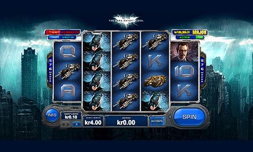 The Dark Knight Rises er en fremragende jackpotspilleatuomat