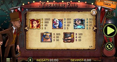 Vind millioner på en casino jackpot med navnet Treasure Fair