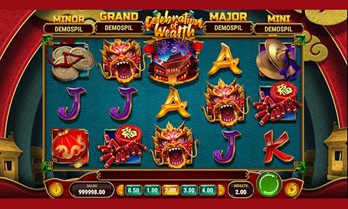 Celebration of Wealth er en spilleautomat med afsæt i østens mystik