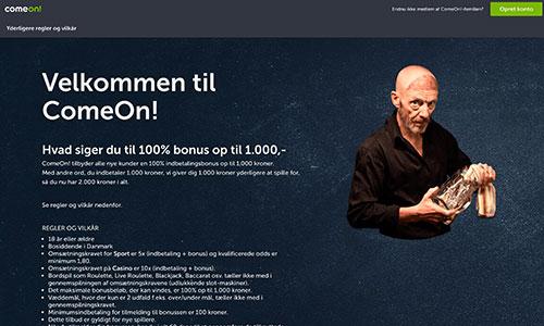 ComeOn byder på et hav af tilbud til nye og eksisterende spillere