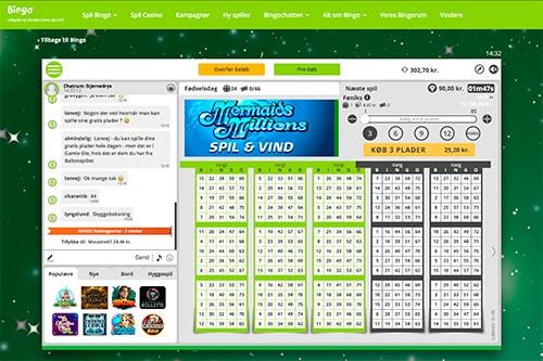 Chatten er virkelig god hos Danske Spil Bingo