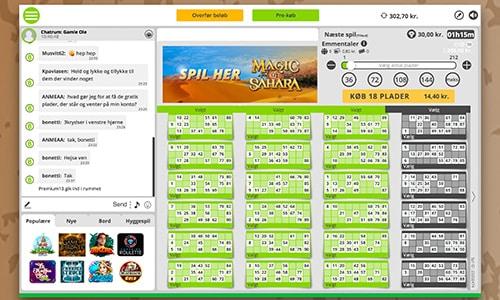 Gamle Ole-bingorummet hos Danske Spil Bingo