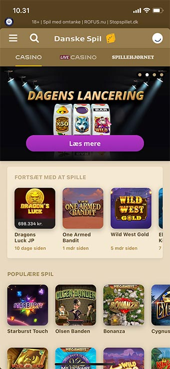 Danske Spil Casino har en ganske fremragende app