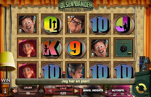 Du kan bl.a. spille Olsen Banden spilleautomaten for din gratis bonus