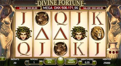 Divine Fortune byder på en imponerende høj tilbagebetalingsprocent