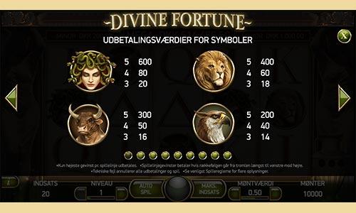 Du kan spille Divine Fortune hos Rød25