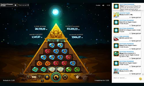 Egyptens prinsesse er en spilleautomat fra Pip.dk