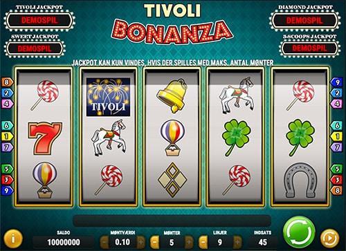 Få en gratis bonus på spilleautomaten Tivoli Bonanza