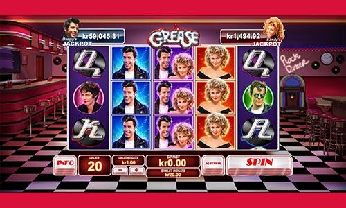 Spil med Danny og Sandy i spilleautomat-versionen af den populære musical Grease