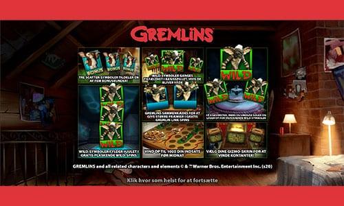 Du finder Gremlins-spilleautomaten hos Unibet