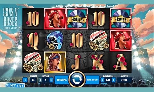 Spil med Guns N' Roses i denne fremragende spilleautomat