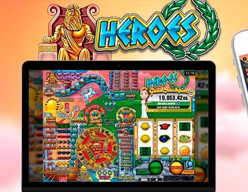 Heroes kender du måske fra grillbaren. Nu kan du også spille spilleautomaten hos Spillehallen.dk