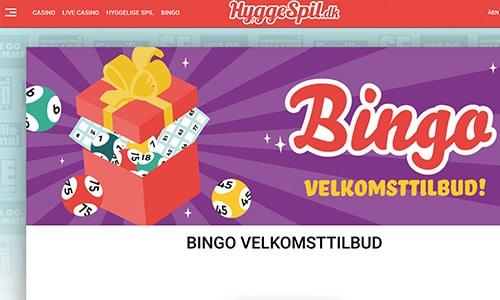 HyggeSpil.dk Bingo byder på en særdeles interessant velkomstbonus til bingo