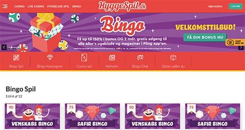 HyggeSpil Bingo er Aller-koncernens helt eget spilunivers