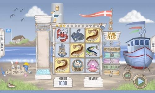Kattegat spilleautomaten byder på et simpelt valse-design