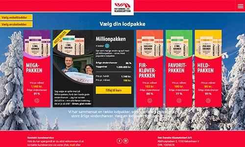 Du kan købe lodder til Klasselotteriet på klasselotteriet.dk
