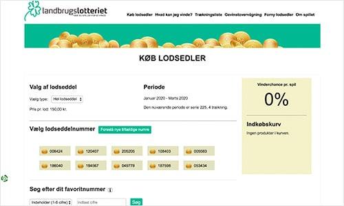 Køb lodsedler til Landbrugslotteriet på Landbrugslotteriet.dk