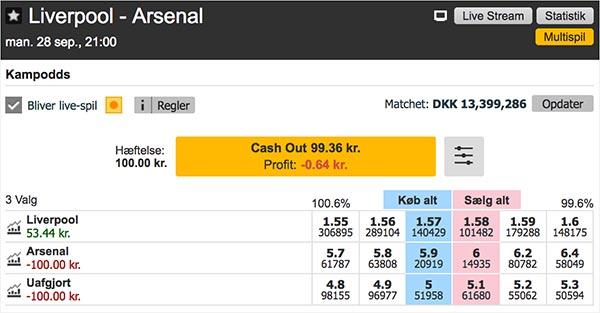 Vi har nu købt Liverpool til odds 1.57
