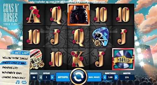 Spil med det legendariske band Guns N Roses hos LeoVegas