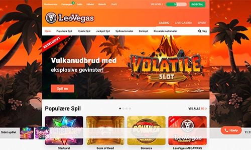 LeoVegas Casino har en ganske fin hjemmeside