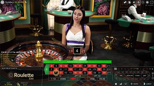 Der er et hav af forskellige bordspil i live casino-afdelingen