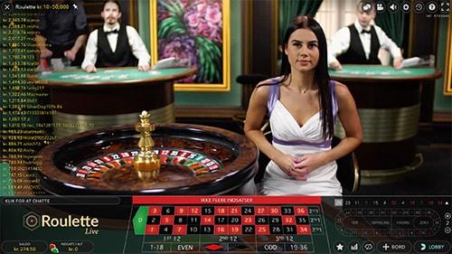 Spil live roulette i spiludbyderens live casino