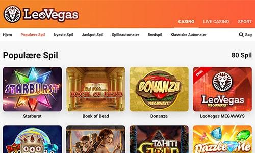 Du finder et kæmpeudvalg af casinospil hos den populære spiludbyder