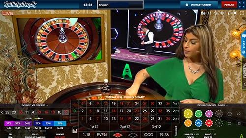 Spillehallen.dk byder også på en række live dealer-spil